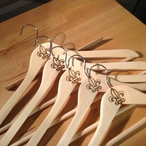 Storage & Organization - Fleur De Lis Wooden Clothing Hangers